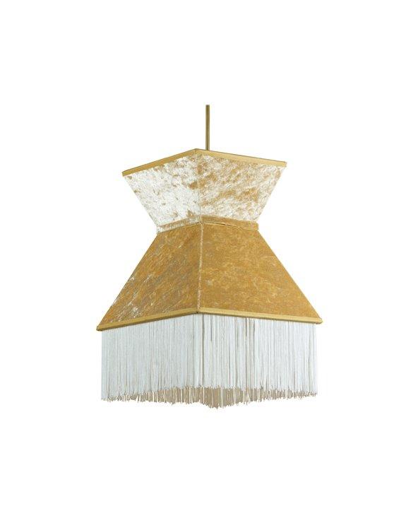Lámpada de teito Cancán branca 20x20 cm