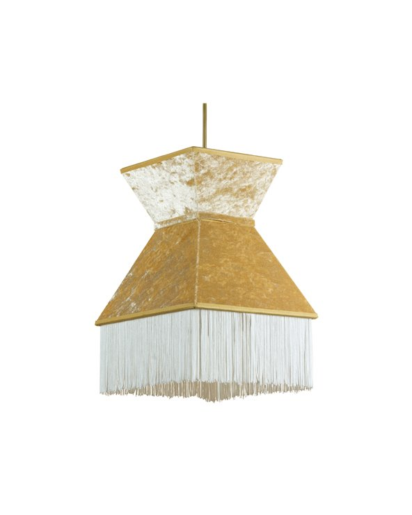 White Cancán ceiling lamp 20x20 cm