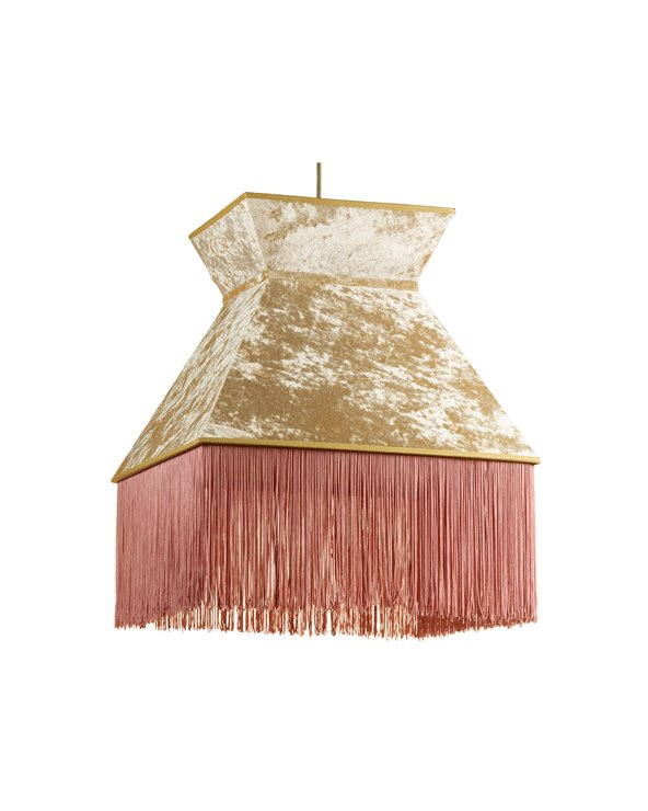 Pink Cancán ceiling lamp 40x40 cm