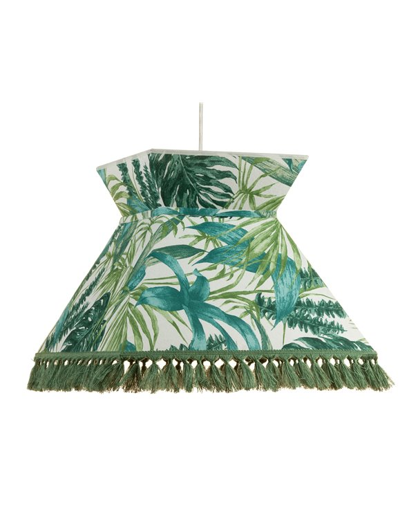 Green Palm trees ceiling lamp 40x40 cm