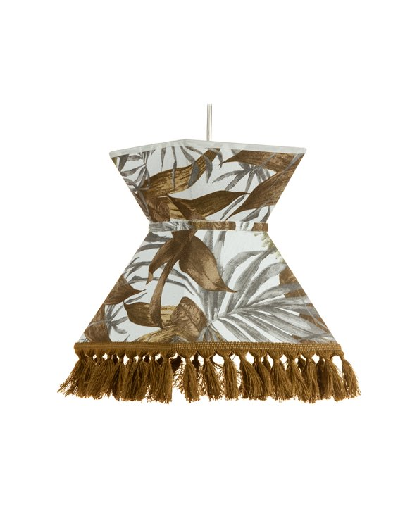 Lámpara de techo Palmeras marrón 20x20 cm