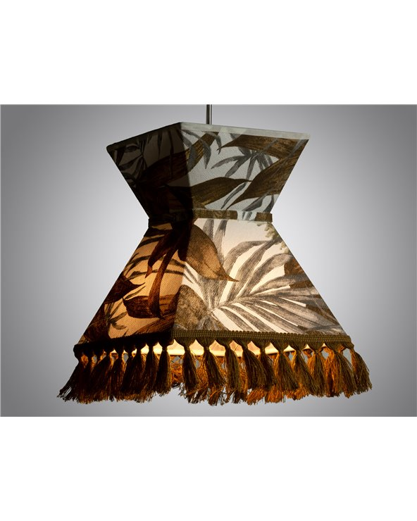 Llum de sostre Palmeres marró 20x20 cm