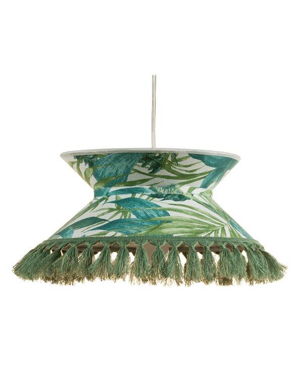 Lámpara de techo Palmeras verde 30x30 cm