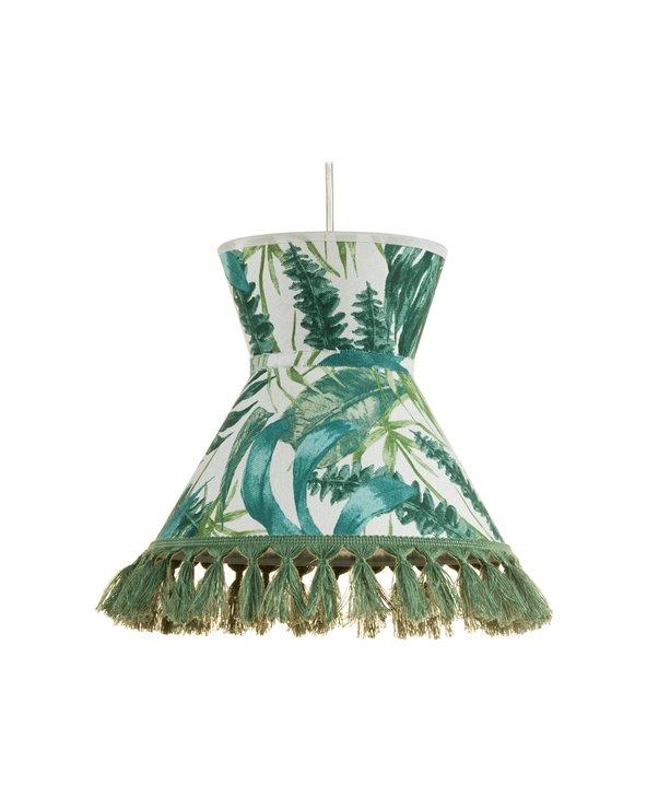 Lámpara de techo Palmeras verde 25x25 cm
