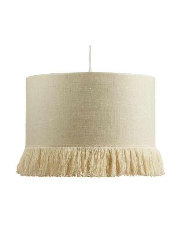 Llum de sostre ràfia crema 45x45 cm
