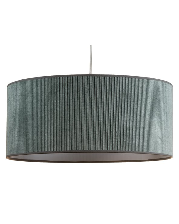 Lámpada de teito pana verde 45x45 cm