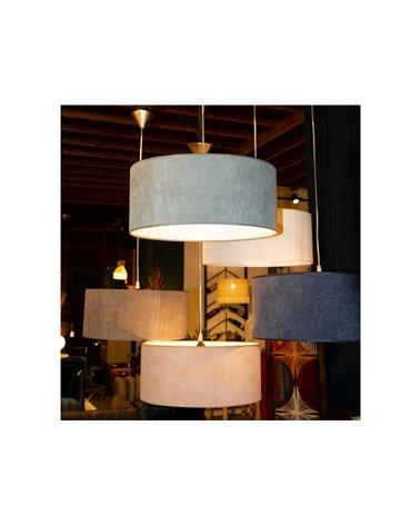 Lámpara de techo pana verde 45x45 cm