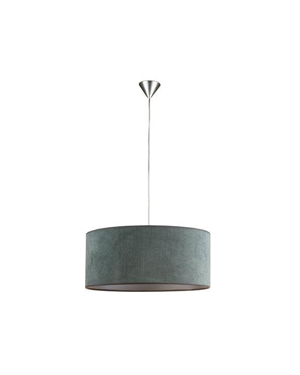 Green corduroy ceiling lamp 45x45 cm