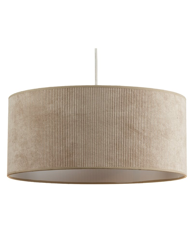 Lámpara de techo pana arena 45x45 cm