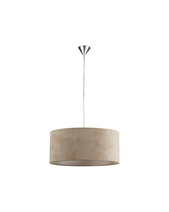 Llum de sostre pana arena 45x45 cm