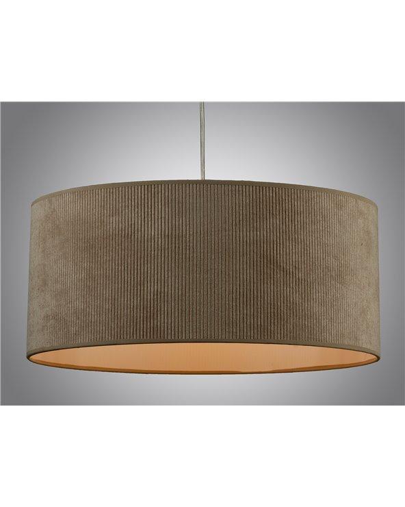 Sand corduroy ceiling lamp 45x45 cm