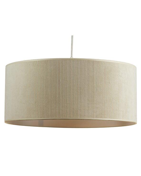 Lámpada de teito pana crema 45x45 cm
