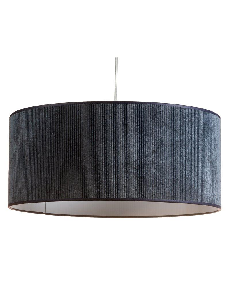 Lámpara de techo pana azul 45x45 cm