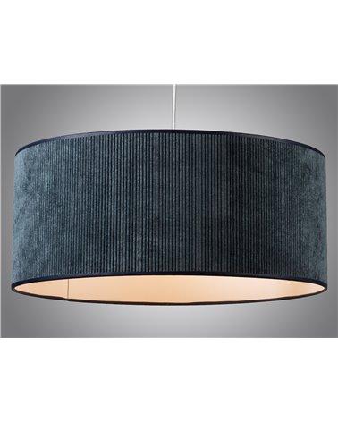 Blue corduroy ceiling lamp 45x45 cm