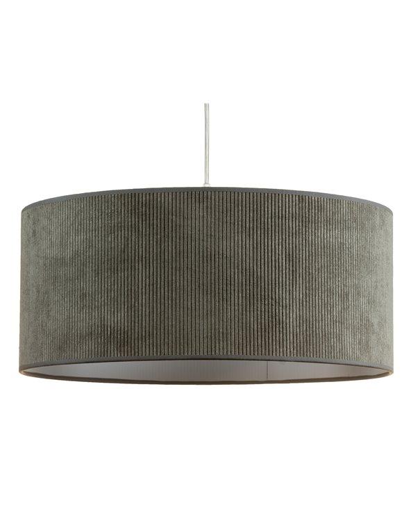 Lámpada de teito pana gris 45x45 cm