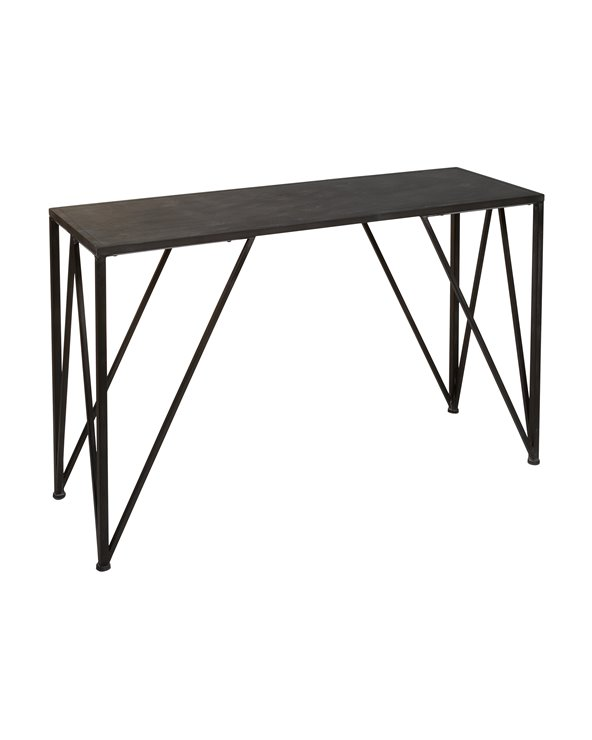 Table console en métal