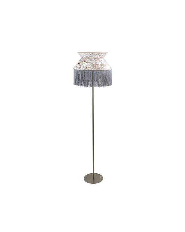 Lámpada de pé Cancán gris