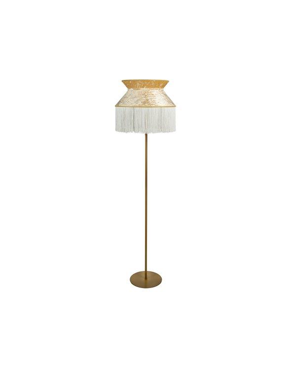 Lámpada de pé Cancán beige