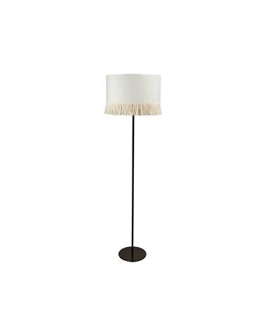 Raffia floor lamp