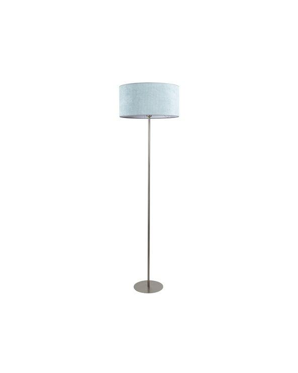 Lámpada de pé pana verde
