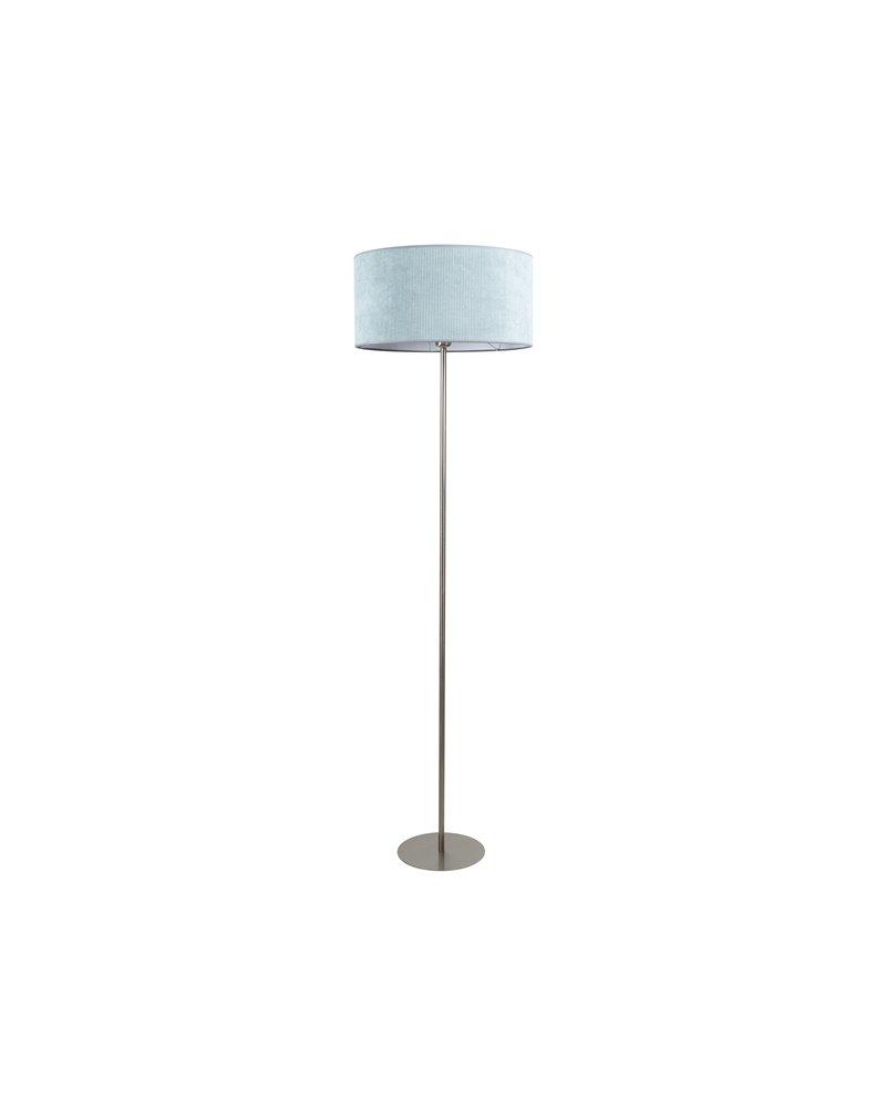 Green corduroy floor lamp