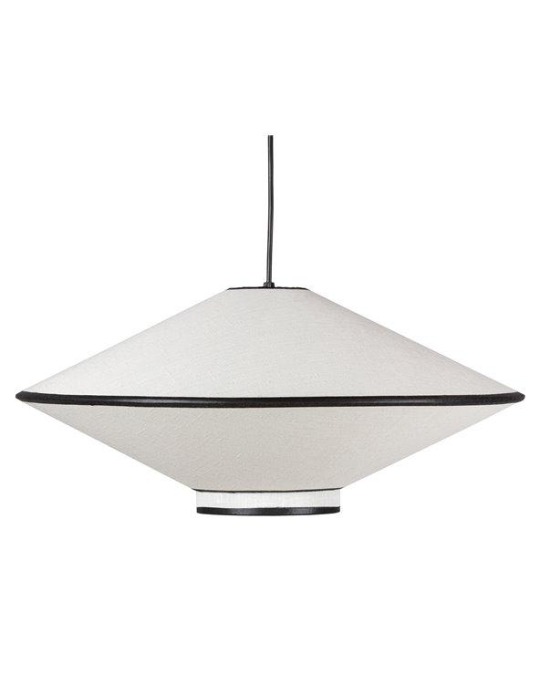 Lámpada de teito branco e negro pequena