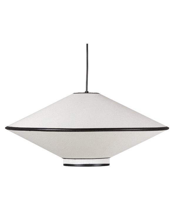 Small black and white ceiling lamp
