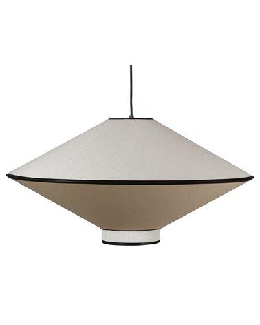 Lámpara de techo blanco y negro grande