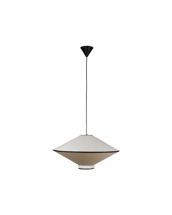 Lámpada de teito branco e negro grande