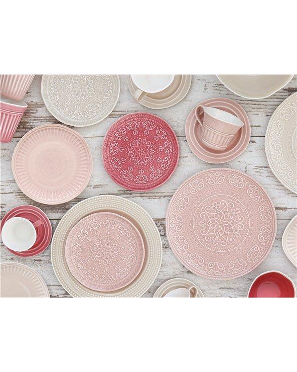 Prato de sobremesa Abitare rosa