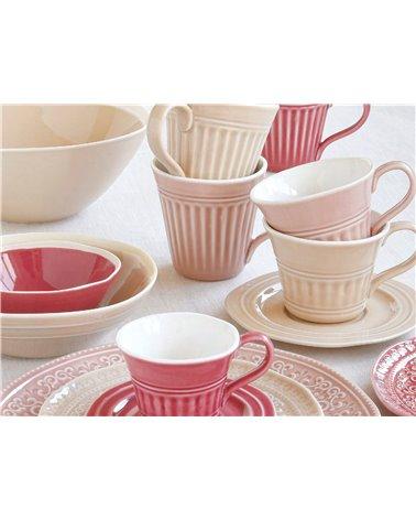 Tassa de te amb plat Abitare rosa