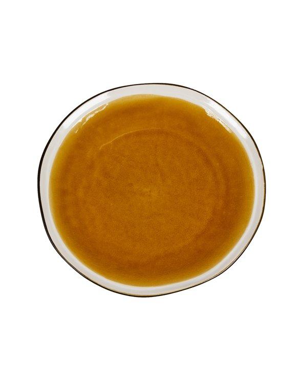 Assiette moutarde Origin