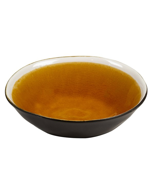 Assiette creuse moutarde Abitare