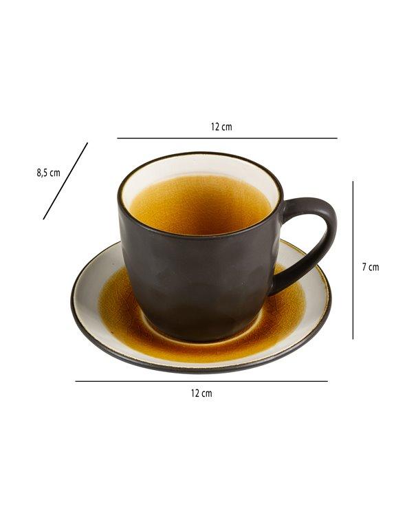 Tassa de te amb plat Abitare mostassa