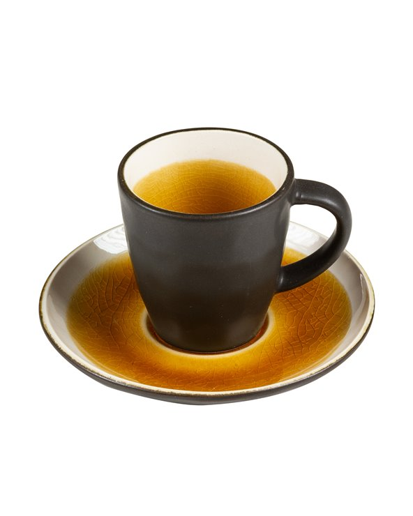 Abitare mustard Cup with saucer