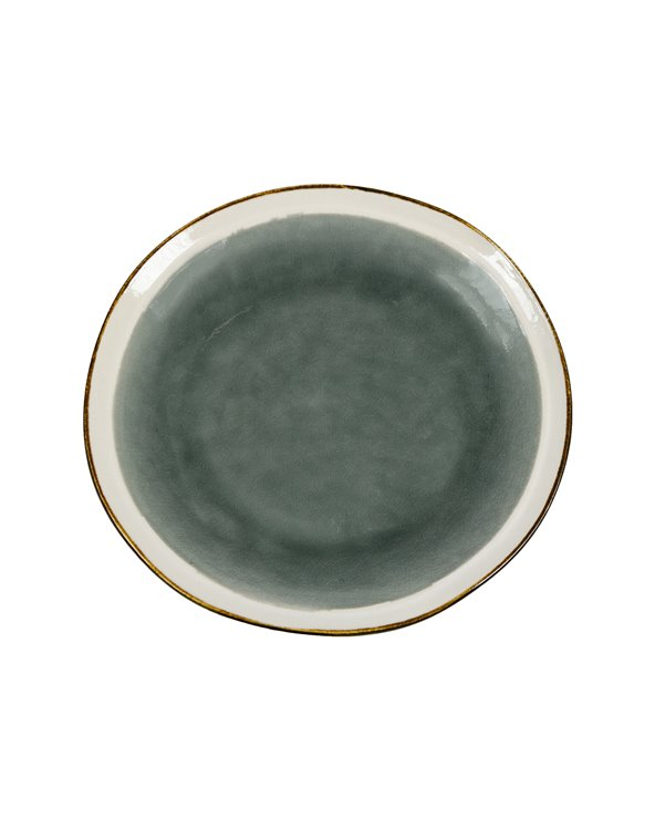 Assiette à dessert Abitare gris