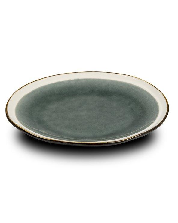 Abitare gray dessert plate