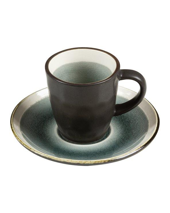 Tasse avec soucoupe gris Abitare