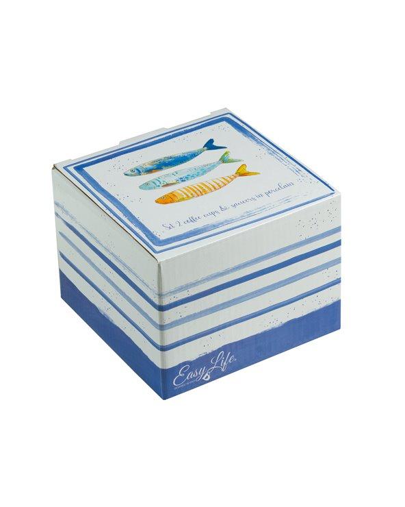 Set de 2 cuncas con prato Bord de Mer
