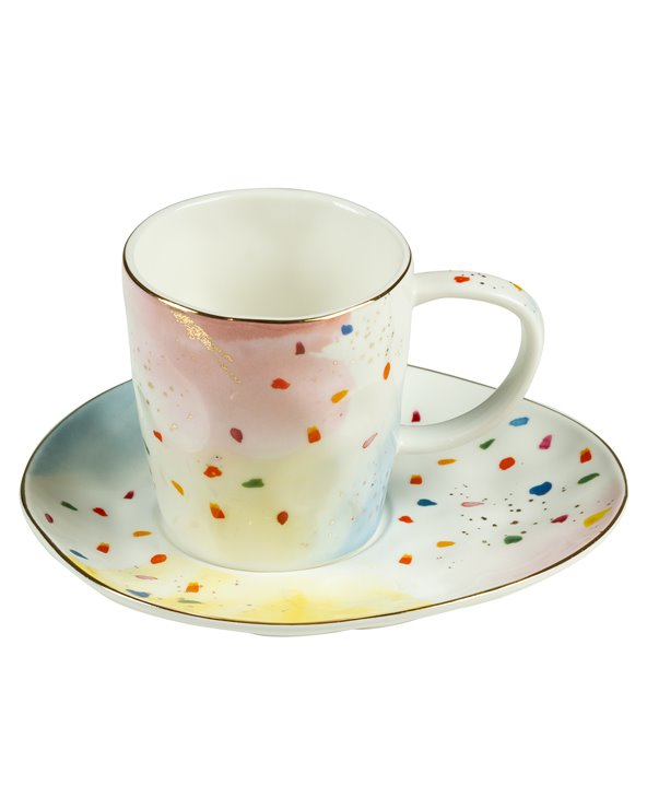 Taza con plato Colour
