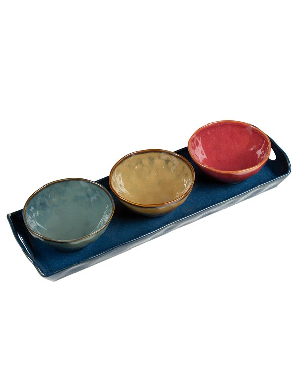 3 bowls with tray Interiors