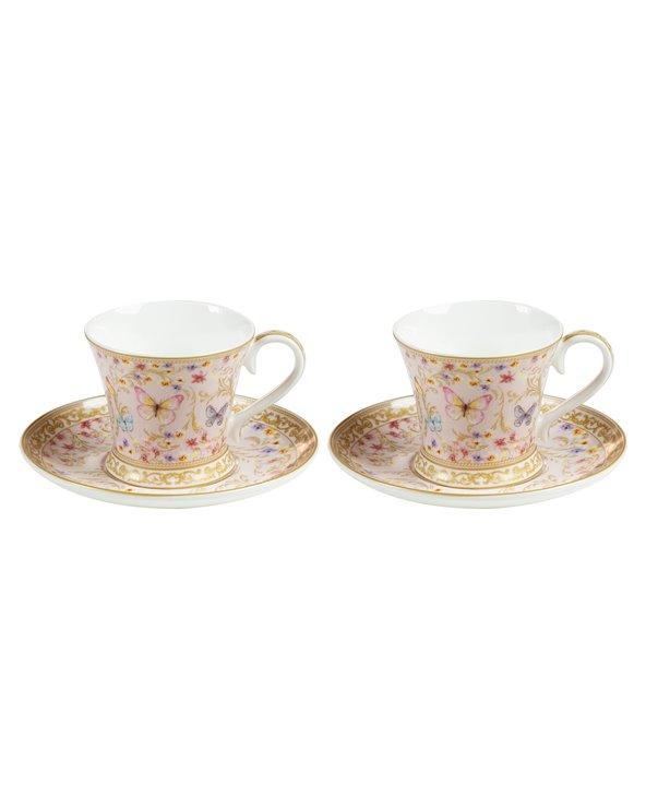 Set de 2 tazas con plato Majestic