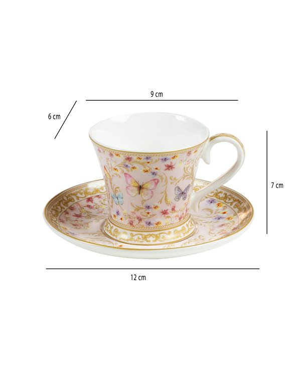 Majestic Set of 2 cups with saucer