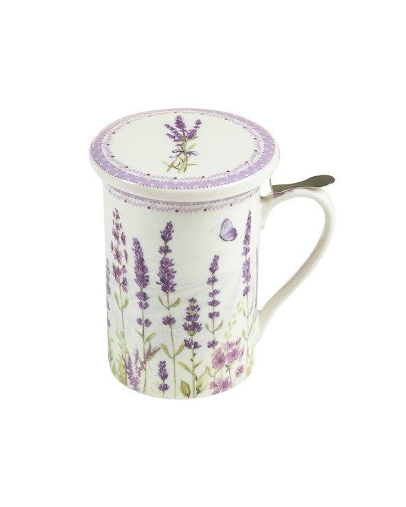 Infusion cup with lid and filter Lavander