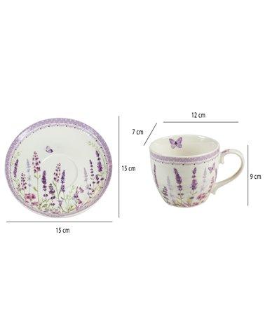 Lavander cup with saucer
