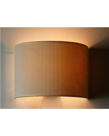 Lámpada aplique de parede Pana crema