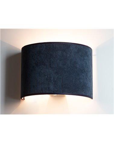 Lámpara aplique de pared Pana azul