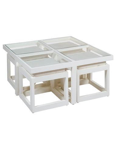 Mesa de centro 4 pufs