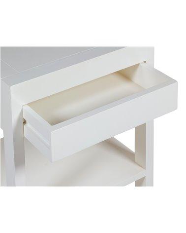 Mesa auxiliar blanca