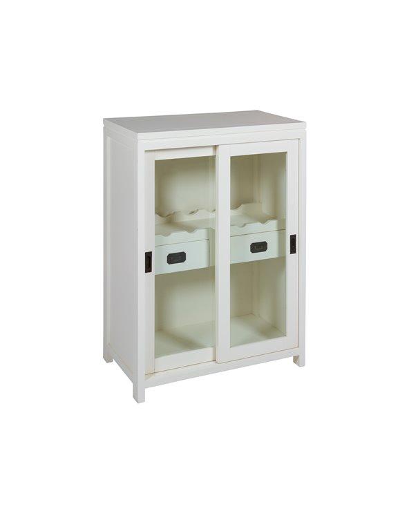 Mueble botellero blanco